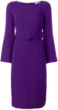 P.A.R.O.S.H. flared sleeved belted dress