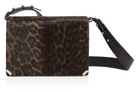 AllSaints Vincent Medium Leopard-Print Calf Hair Shoulder Bag