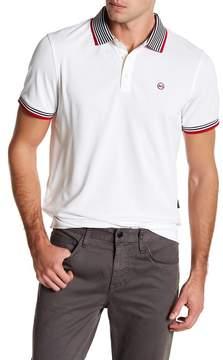AG Jeans SSQ Short Sleeve Contrast Stripe Detail Polo