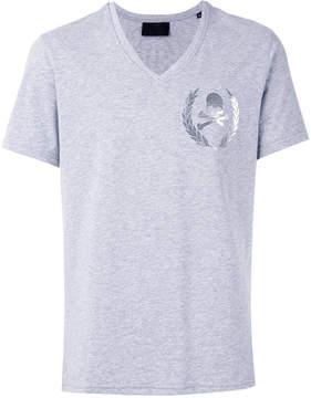 Philipp Plein skull print V-neck T-shirt