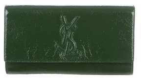 Saint Laurent Large Belle de Jour Clutch - GREEN - STYLE