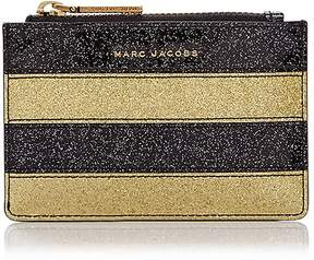 Marc Jacobs Glitter Stripe Top Zip Leather Wallet - GOLD MULTI/GOLD - STYLE