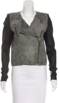 Camilla And Marc Leather Zip-Up Jacket