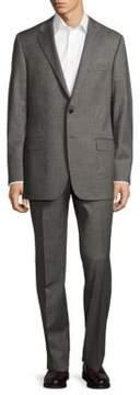 Hickey Freeman Milburn II Classic Fit Textured Wool Suit