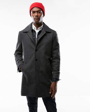 Express Recycled Wool Herringbone Topcoat