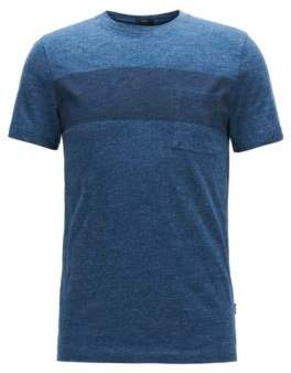 BOSS Hugo Colorblock Cotton Jersey T-Shirt Tessler M Dark Blue