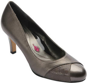 Ros Hommerson Pewter Joyce Leather Pump - Women