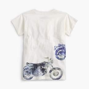 J.Crew Boys' watercolor motorcycle T-shirt