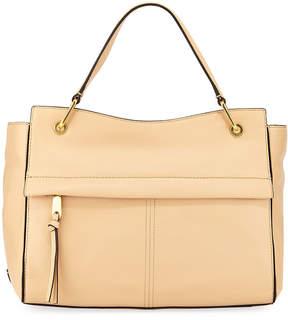 Cole Haan Kathlyn Leather Zip-Top Satchel Bag, Nude