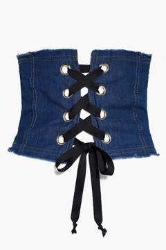 boohoo Lena Denim Corset Belt