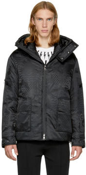 Neil Barrett Black Camo Kefiah Ski Jacket