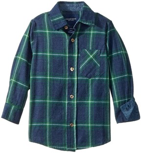 Toobydoo Check Flannel Shirt Boy's Long Sleeve Button Up
