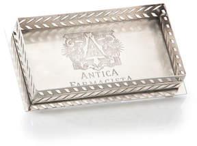 Antica Farmacista Decorative Tray for Bubble Bath or Bath Salts in Silver Finish