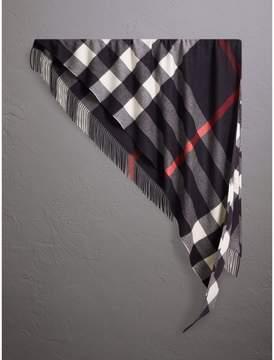 Burberry Check Cashmere Wrap