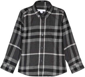 Burberry Dark Grey Mini Fred Scale Check Shirt