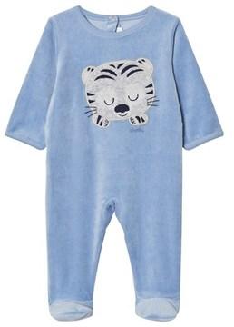 Absorba Blue Tiger Applique Velour Babgrow