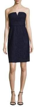 Donna Morgan Quinn Strapless Lace Mini Dress