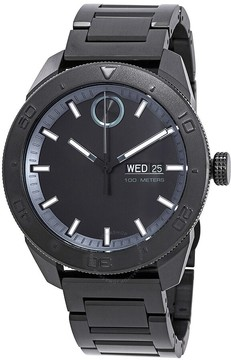 Movado Bold Black Dial Men's Stainless Steel Watch
