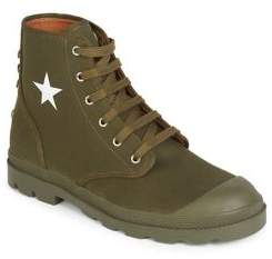 Givenchy Canvas Star Combat Boots