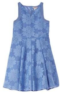 Nanette Lepore Novelty Eyelet Blue Dress.