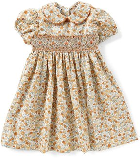 Edgehill Collection Little Girls 2T-4T Floral-Print Smocked Dress