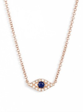 Ef Collection Women's Evil Eye Diamond & Sapphire Pendant Necklace