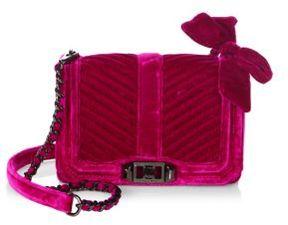 Rebecca Minkoff Love Chevron Quilted Velvet Crossbody Bag