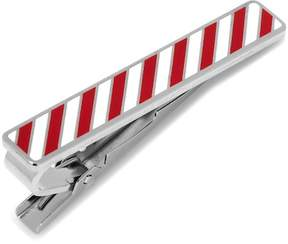 Cufflinks Inc. Varsity Stripes Crimson and White Tie Clip