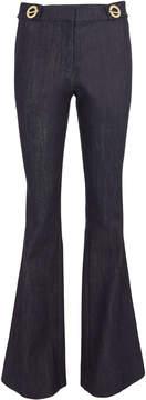 Derek Lam 10 Crosby Grommet Detail Denim Flare Trousers