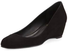 Delman Doll Crossover Demi-Wedge Pump, Black