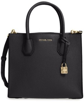 MICHAEL Michael Kors 'Medium Mercer' Leather Tote - Black