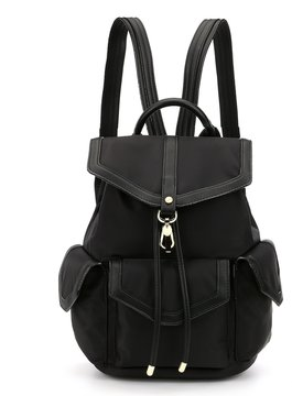 Kate Landry Scout Drawstring Chain-Strap Backpack