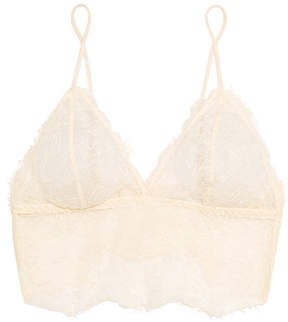 Anine Bing Stretch-lace Soft-cup Bra - Ecru