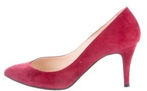 Carven Suede Pointed Toe Pumps
