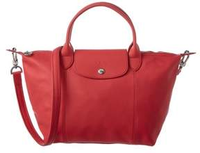 Longchamp Le Pliage Cuir Small Leather Top Handle. - PEONY - STYLE