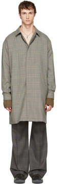 Lanvin Grey Wool Glen Check Coat