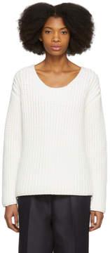 Mansur Gavriel White Chunky Knit Sweater