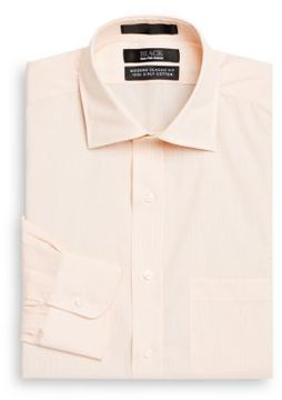 Saks Fifth Avenue BLACK Classic-Fit Pinstriped Dress Shirt