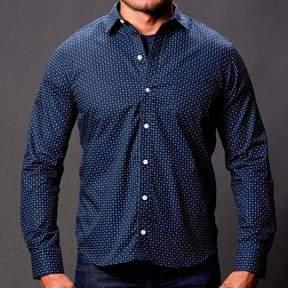 Blade + Blue Navy Blue Circle Print Shirt - Lucas