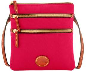 Dooney & Bourke Nylon North South Triple Zip Shoulder Bag - PINK - STYLE