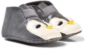 Stella McCartney Grey Penguin Crib Shoes
