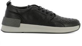Bottega Veneta Black Leather Sneakers