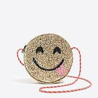 J.Crew Factory Glitter emoji bag