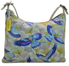 Anuschka Women's Hand Painted Slim Large Hobo.