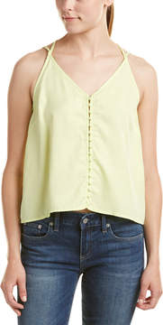 Do & Be DO+BE Do+Be Sleeveless Button Front Top