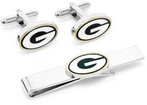 Ice Green Bay Packers Cufflinks and Tie Bar Gift Set