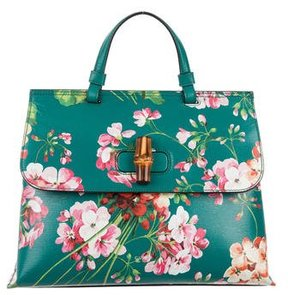 Gucci Bamboo Blooms Daily Bag - GREEN - STYLE