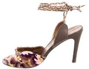 Missoni Velvet Wrap-Around Sandals