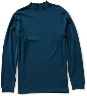 Roundtree & Yorke Long-Sleeve Solid Mock Neck Shirt