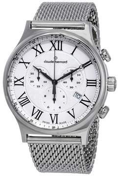 AR+ Claude Bernard Classic Chronograph Silver Dial Men's Watch 10217 3M AR